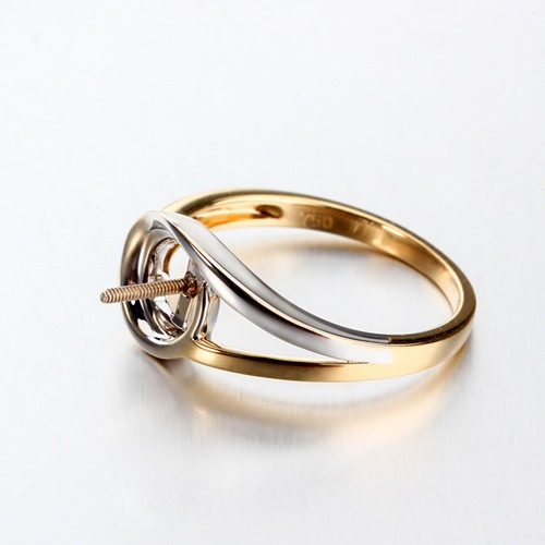 18k gold screw interchangeable ring mounting