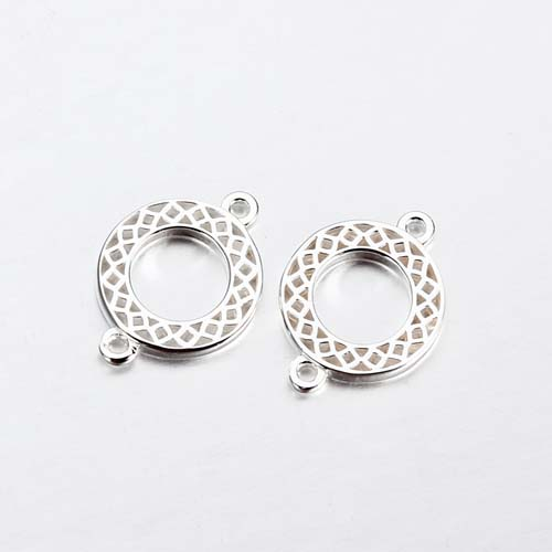 925 sterling silver circle ring charm connector -10 mm