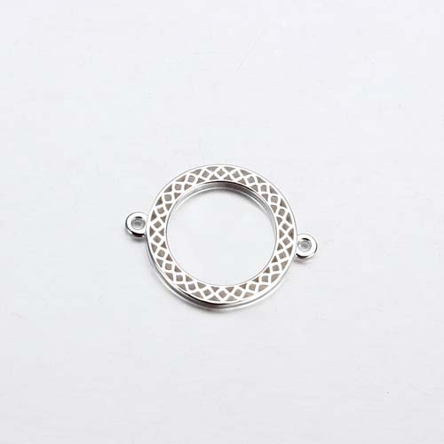 925 sterling silver circle ring charm connector -15mm