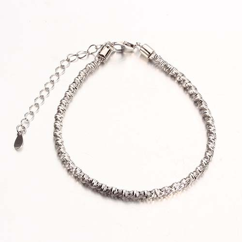 Customized size 925 sterling silver stretch bracelet