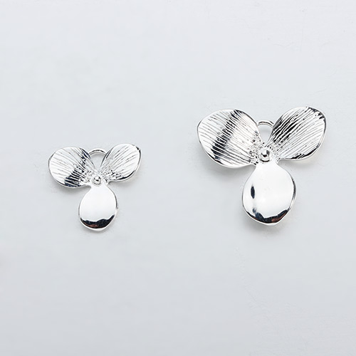 925 sterling silver clover leaf charm,two sizes