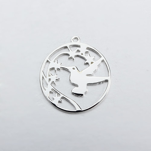 925 sterling silver peace pigeon charm