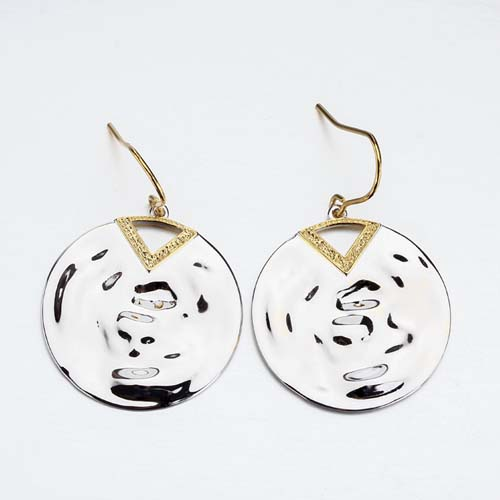 925 sterling silver statement chunky round earrings