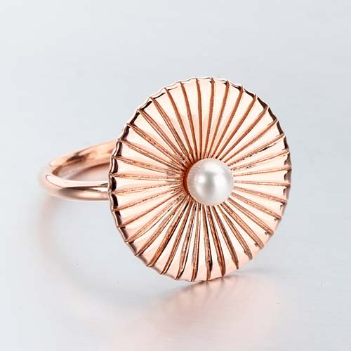 925 sterling silver pearl umbrella statement ring