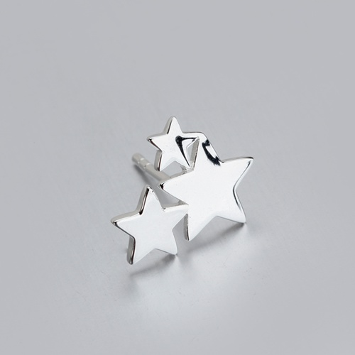 925 sterling silver cluster star stud earrings