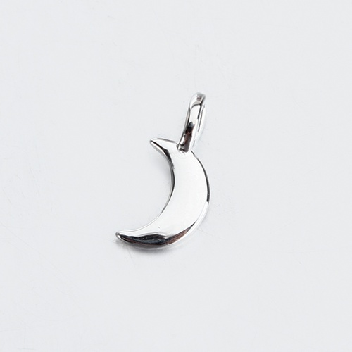 Sterling silver mini crescent moon charm