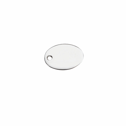 DIY 925 sterling silver blank oval jewelry tag