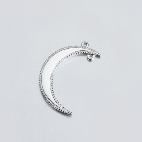 Sterling silver 925 hot-selling scythe moon charms