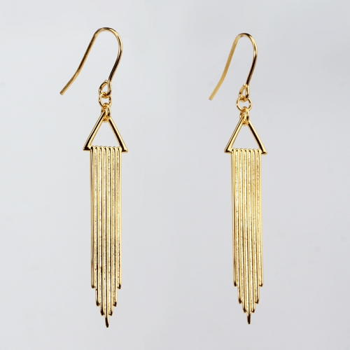 Renfook 925 sterling silver tassel shape 2020 earrings women