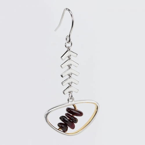 Renfook 925 sterling silver Garnet  2020 earrings women
