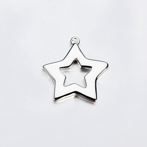 Renfook sterling silver 925 hot-selling hollow star charm