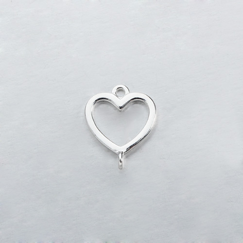 Renfook Sterling silver heart connector for DIY making