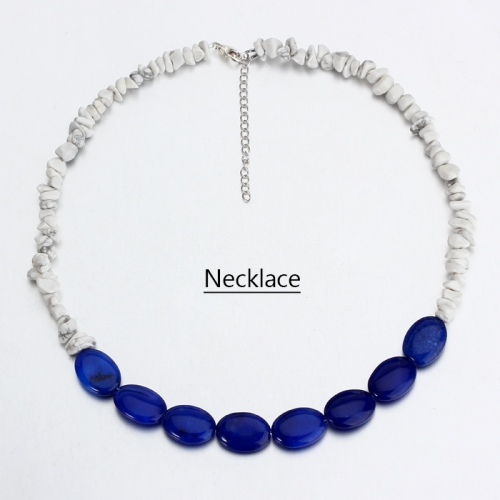 Renfook 925 sterling silver lapis lazuli and turquoise necklace