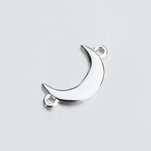Renfook Sterling silver moon connector for spring jewelry