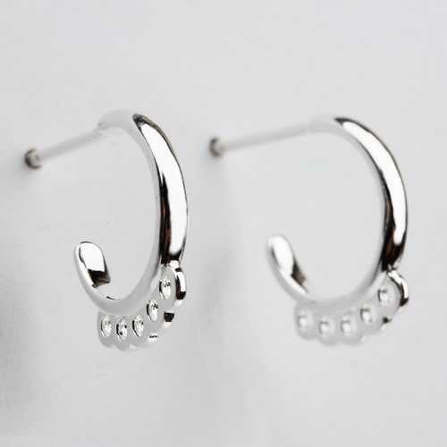 925 sterling silver earring hook with loops findings