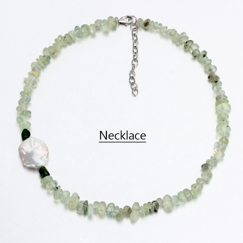 Renfook 925 sterling silver pearl and gemstone necklace