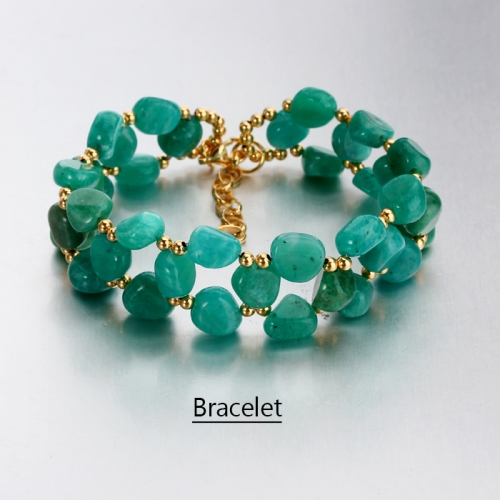 Renfook 925 sterling silver amazonite gemstone bracelet for women