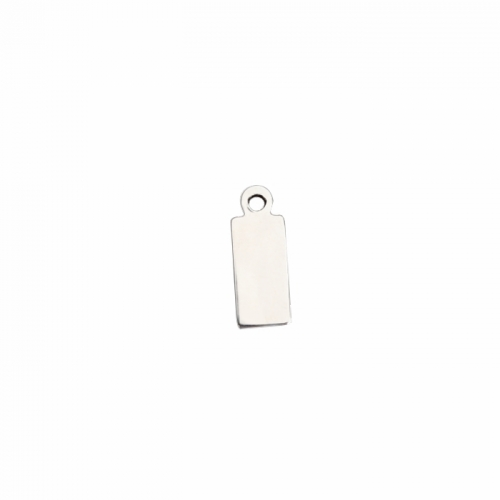 Renfook 925 sterling silver 13*5mm laser square name tag