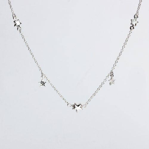 Renfook 925 sterling silver minimalism star necklace