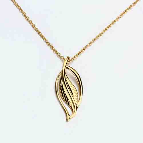 Renfook 925 sterling silver leaf chain necklace for women