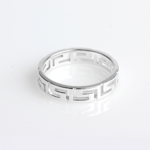 Renfook 925 sterling silver ring jewelry with hollowed pattern