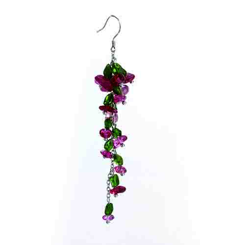 Renfook 925 sterling silver tourmaline and diopside hook earring for women