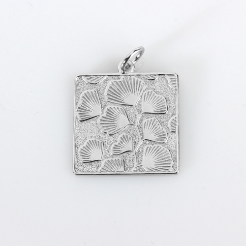 Renfook 925 sterling silver unique hammer surface pattern pendant